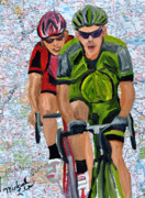 Cycling Originals - Riding The Roads by Michael Lee