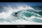 Surf Lifestyle Framed Prints - Riding the Wave - Maui Hawaii Posters Series Framed Print by Denis Dore