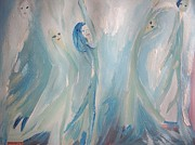 Stage Painting Originals - Riding the wave by Judith Desrosiers
