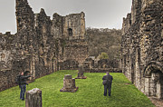 Masonary Art - Rievaulx Abbey 2 by David  Hollingworth
