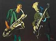 Jazz Painting Originals - Riffn by Pete Maier