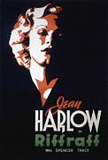 Harlow Framed Prints - Riffraff, Jean Harlow, 1935 Framed Print by Everett