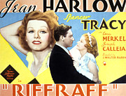 Harlow Framed Prints - Riffraff, Jean Harlow, Spencer Tracy Framed Print by Everett