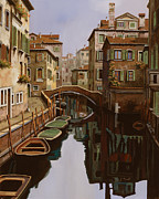 Lagoon Painting Prints - Riflesso Scuro Print by Guido Borelli