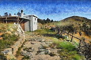 Dei Paintings - Rifugio naturalistico del CAI - CAI Bird watching house by Enrico Pelos