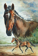 Trotting Paintings - Rigels Storm by Kristine Plum