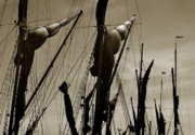 Sailing Ships Originals - Rigging  by Terence Davis