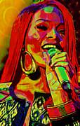 Rihanna 2 Print by Byron Fli Walker