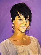 Rihanna Paintings - Rihanna by Andrew Ormes