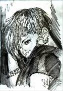 Portaits Drawings - Rihanna  by Anshu Kaulitz