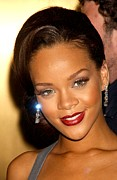 Diamond Earrings Posters - Rihanna At Arrivals For Fashion Rocks Poster by Everett