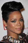 Updo Acrylic Prints - Rihanna At Arrivals For The 3rd Annual Acrylic Print by Everett