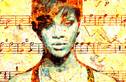 Rihanna Print by Chandler  Douglas