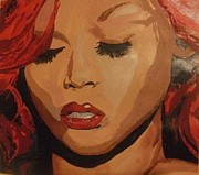 Rihanna Paintings - Rihanna by Cherise Foster
