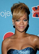 Diamond Earrings Posters - Rihanna In Attendance For Pepsi Refresh Poster by Everett