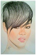 Rihanna Drawings Originals - Rihanna by Kipani Joi