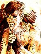 Rihanna Drawings Originals - Rihanna LIVE by Anshu Kaulitz