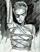 Rihanna Drawings Originals - Rihanna RUSSIAN ROULETTE by Anshu Kaulitz