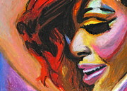 Rihanna Smile Print by Siobhan Bevans
