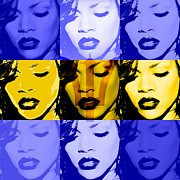 Anibal Diaz Framed Prints - Rihanna Warhol Barbados by GBS Framed Print by Anibal Diaz