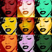 Rihanna Warhol By Gbs Print by Anibal Diaz