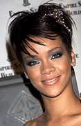 Stud Earrings Prints - Rihanna Wearing A Cartier Tiara Print by Everett