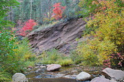 West Fork River Photos - Rimmed in Red Horizontal by Heather Kirk
