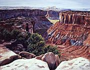 Canyon Paintings - Rimrocked No Way Down by Page Holland