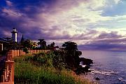 Rincon Lighthouse Puerto Rico Print by George Oze