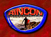 Rincon Beach Framed Prints - Rincon Logo Framed Print by Ron Regalado