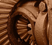 Neurotic Images Photography Prints - Ring and Pinion Sepia Print by Chalet Roome-Rigdon