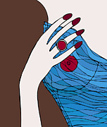 Sexy Drawings Prints - Ring finger Print by Frank Tschakert