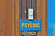 Doorbell Framed Prints - Ring for Psychic Framed Print by Jerry Patterson