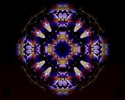 Mandala Photos - Ring Of Light Mandala by Rene Crystal