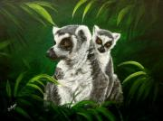 Primates Originals - Ring Tailed Lemurs by Sue Homer