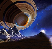 Planetary System Photos - Ringed Planet by Detlev Van Ravenswaay
