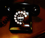 Telephones Prints - Ringing in the Fifties  Print by Steven  Digman