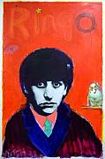 Beatles Mixed Media Originals - Ringo by Mike  Mitch
