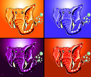 Elephant Drawings Framed Prints - Ringo Party Animal Framed Print by Adam Vance