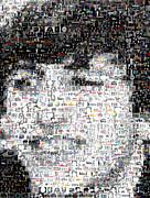 Ringo Starr Beatles Mosaic Print by Paul Van Scott