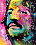 Beatles Painting Framed Prints - Ringo Starr Framed Print by Dean Russo