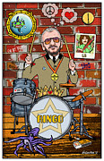British Invasion Framed Prints - Ringo Starr Framed Print by John Goldacker