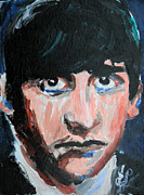 Fab Four Painting Framed Prints - Ringo Starr  Framed Print by Jon Baldwin  Art