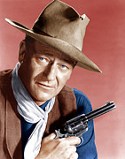 1950s Photo Framed Prints - Rio Bravo, John Wayne, 1959 Framed Print by Everett