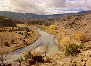 Chama River Prints - Rio Chama In Autumn New Mexico Print by Tim Fitzharris