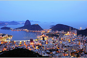 Dusk Framed Prints - Rio De Janeiro, Beautiful City Framed Print by ©Ricardo Barbieri