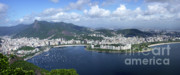 Panoramics Framed Prints - Rio De Janiero Aerial Framed Print by Sandra Bronstein
