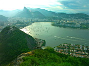 Landscapes Jewelry Prints - RIO de JANIERO. BREATHTAKING  Print by Michael Clarke JP