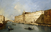 Venetian Framed Prints - Rio dei Mendicanti Framed Print by Francesco Guardi