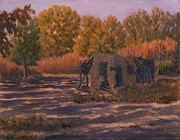 Grande Paintings - Rio Grande Bosque Casita by James Fieldson